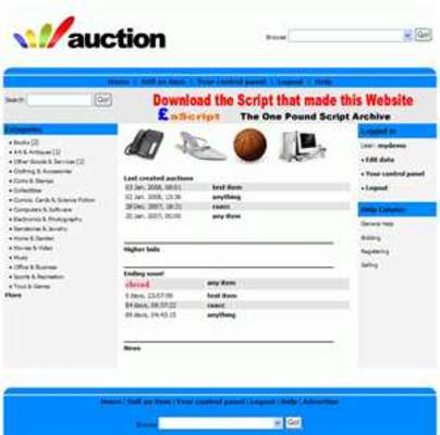 Product picture PHP  Auction Script